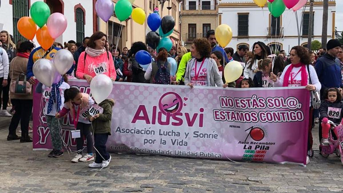 Pancarta Marcha Solidaria 4 de febrero de 2018