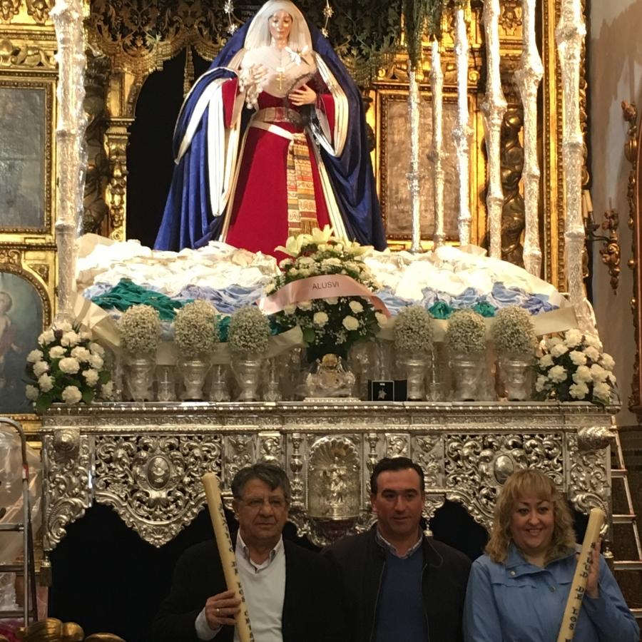Fundición de Velas Votivas en el Palio de Nuestra Señora de Belén Coronada. Marzo 2018