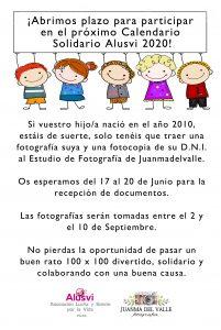 Calendario Belen 2020.Casting Para El Calendario Solidario 2020 Alusvi